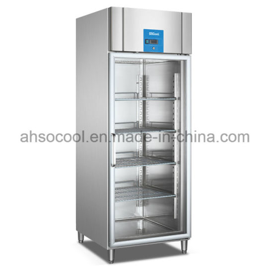 China Glass Door Kitchen Refrigerator With Stainless Steel 304 Body