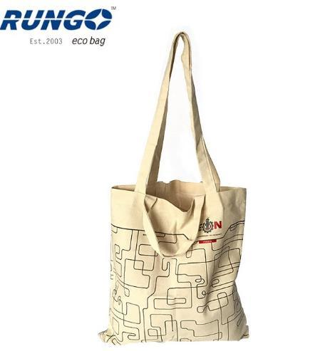 Reusable Double Handle Carry Tote Cotton Canvas Bag with Logo