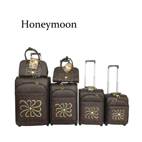 5PC Set PU Leather Trolley Case (JB4002) pictures & photos