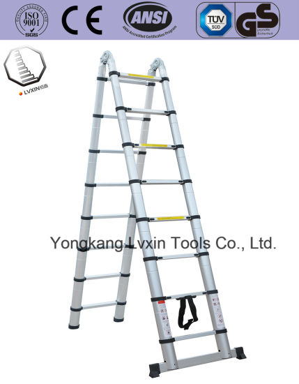 8 Steps Aluminium Extension Ladder with Two Side
