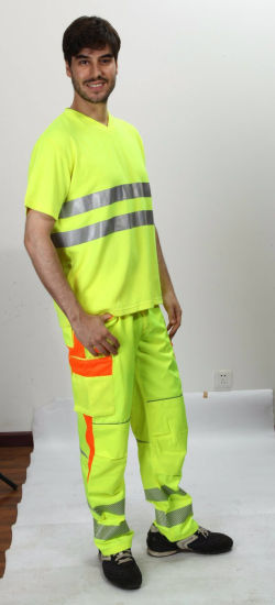 Safety Workwear Men′s High Visibility Trousers pictures & photos