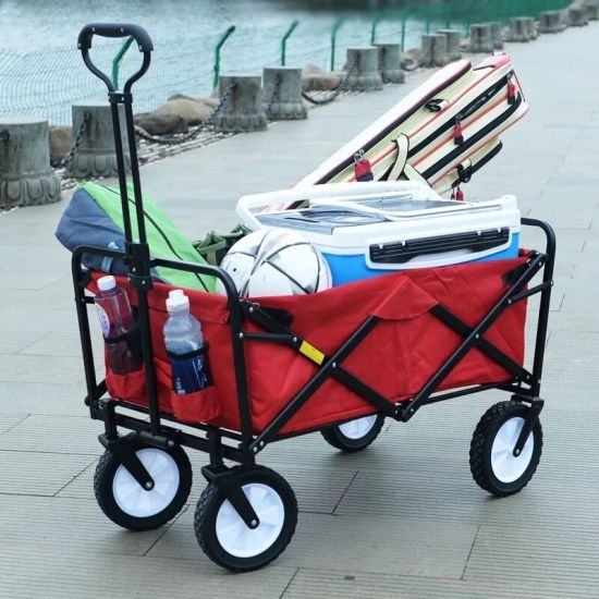 Hot Sale 4 Wheels Outdoor Beach Wagon Utility Folding Garden Cart