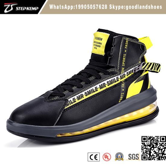 2019 Hot Selling Comfort Anti-Slip Air Cushion Mens Fashion Sneakers Casual High Top Sport Running Shoes 2693
