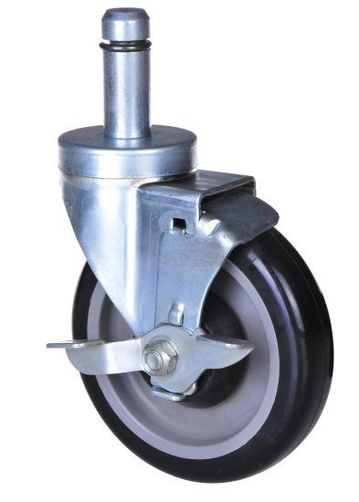 4 Inch/5 Inch PVC Wheel Shaft Caster