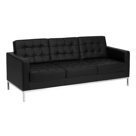 American Style Leather 2p Sofa, Office 3 Seater Leather Sofa