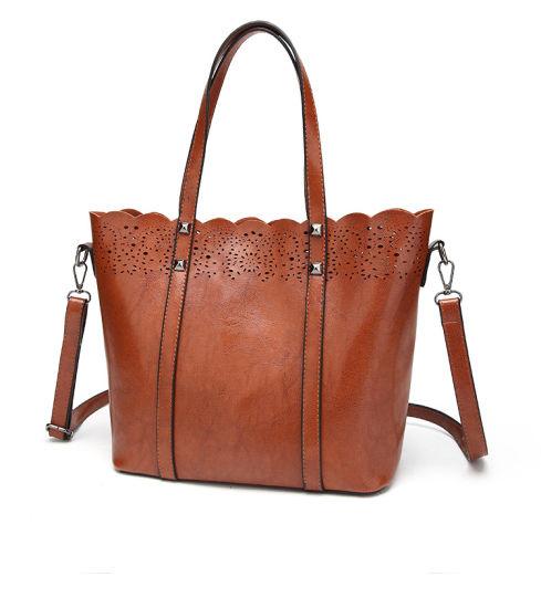 China Ladies Handbags PU Leather Women Bag Flower Hollow out Bag ... 9276f951f05b5