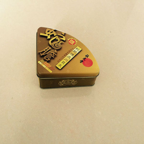 Triangle Shape Tin Tea Cookie Can pictures & photos