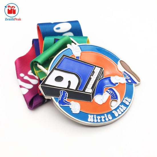 Custom 2018 Zinc Alloy Sonvenir Stain Ribbon Medal pictures & photos