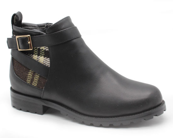 Womens Faux Leather Chelsea Ankle Boots