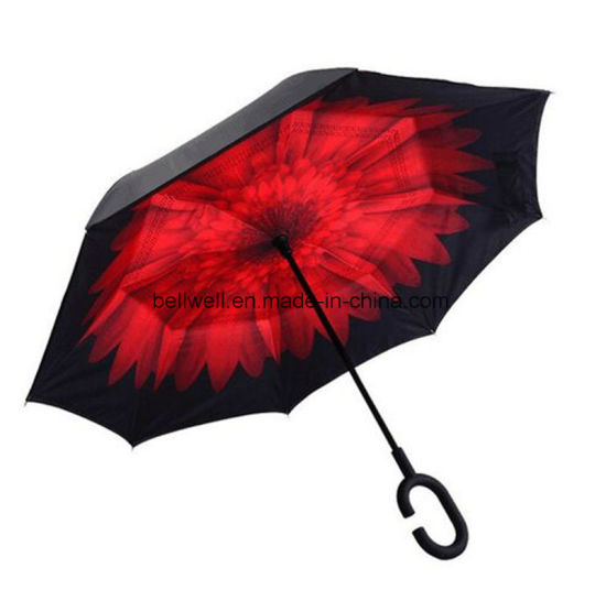 26bc16d8cacb4 Windproof Opposite Open and Close Rverse Inside out Car Inverted Umbrella