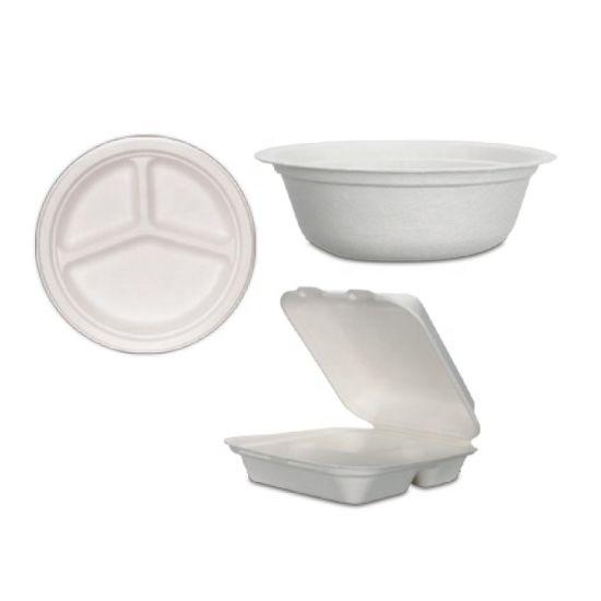 Hot Selling Biodegradable Disposable Sugarcane Bagasse Tableware Plates