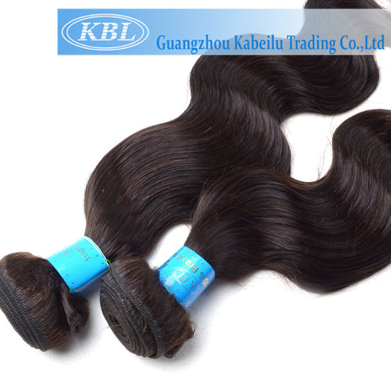 New Arrival Jet Black Brazilian Body Wave Hair Extensions (KBL-BH-BW) pictures & photos