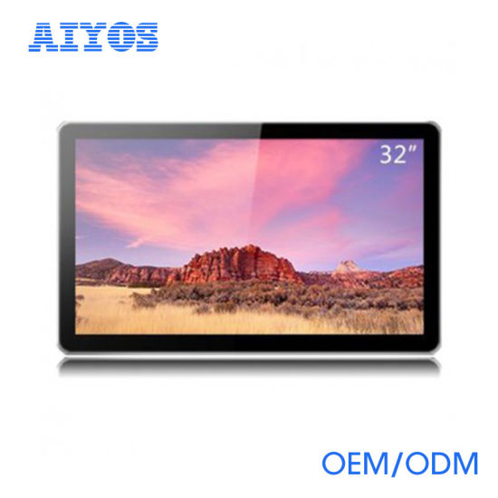 China 32 Wall Mount Android Touch Screen Lcd Wifi Digital Photo