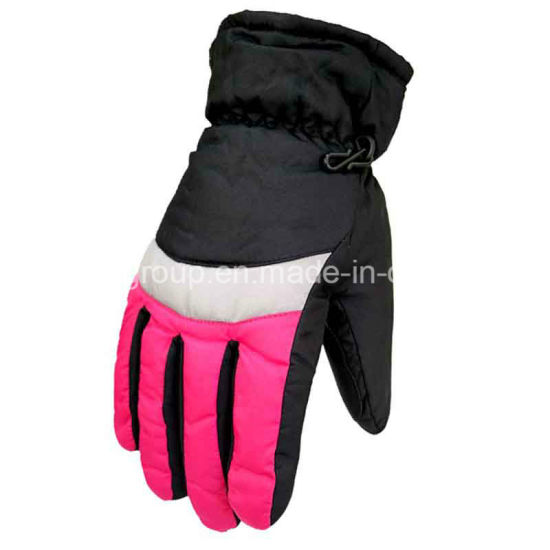 Popular Adult Women Contrast Color Fashion Winter Ski Sports Gloves