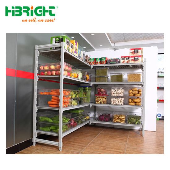 Supermarket Restaurant Plastic Metal Storage Cold Room Racking pictures & photos