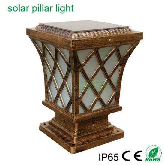 Classical Style Lighting Solar Outdoor Garden Fence Post 5W LED Solar Pillar Light