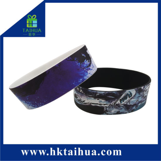 Factory Direct Stand Sale Colorful Heat Transfer Thermal Transfer Silicone Bracelet Wristband Rubber Band pictures & photos