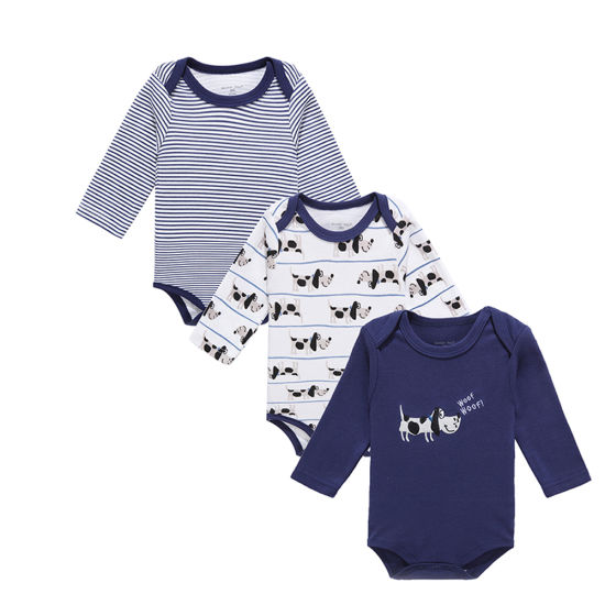 New Style Baby Romper Set with 100% Cotton Bodysuit in Wholesale