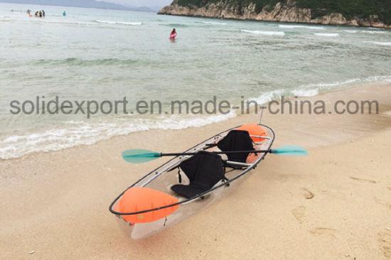 100% Transparent Polycarbonate Kayak/Cheap Kayak Boat Fishing Boat for Amusement Park