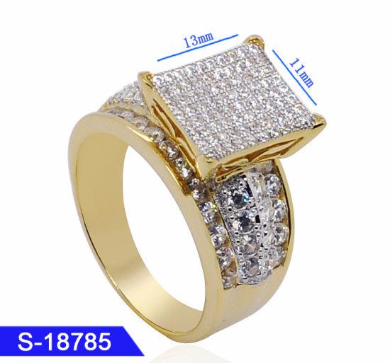 China Newest Design Hot Sale Fashion Lady Stone Zircon Copper