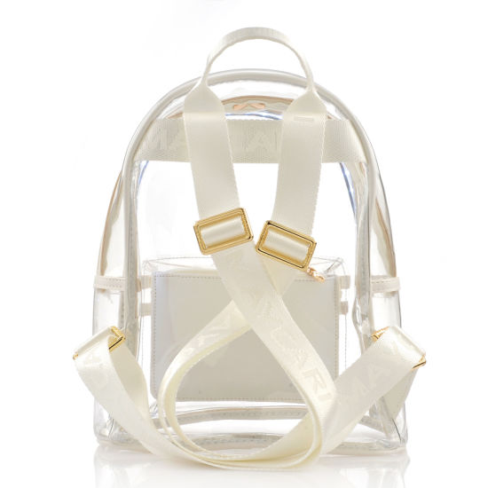 2018 Summer LED Light Bling Bling Transparent PVC Backpack pictures & photos