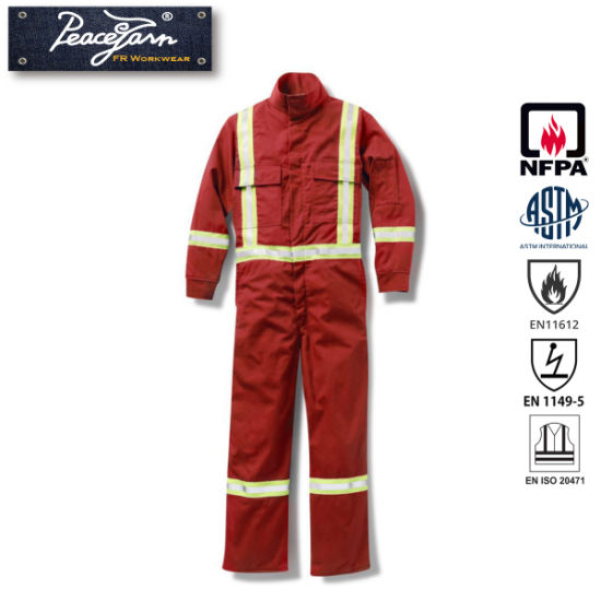Cotton Coverall with Fire Retardant for En 11611 Standard