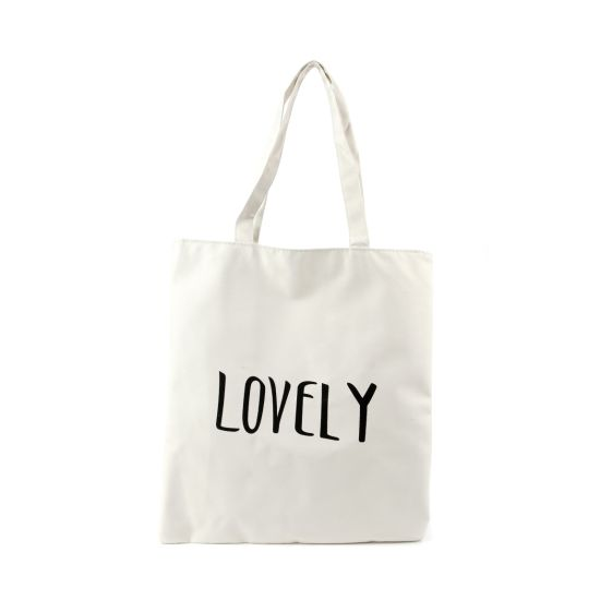 Recycle Printing Cotton Canvas Blank Grocery Tote Shopping Bag