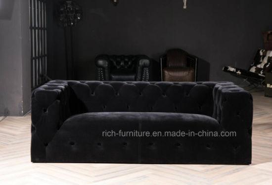 Cool Black Velvet Fabric Vintage Design Sofa Creativecarmelina Interior Chair Design Creativecarmelinacom