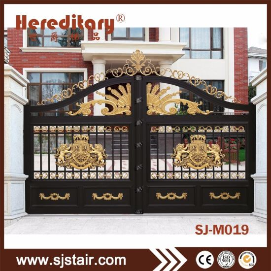 China Wrought Iron Main Gate Metal Driveway Gate For House Design
