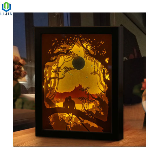 Creative 3D Shadow Box LED Night Light pictures & photos