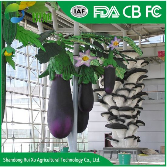 Custom Decorative Fiberglass Eggplant Sculpture pictures & photos
