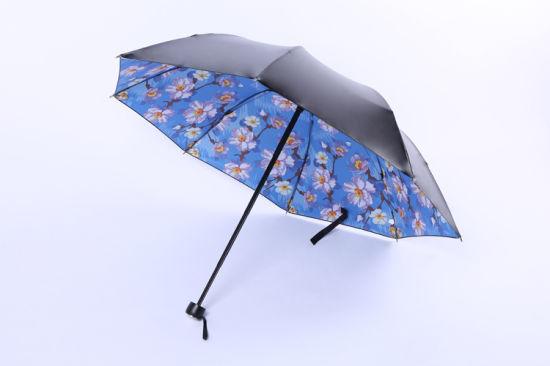 128f4e7d12e8 China Fashion Design Inside Pattern Ultralight No Drip Umbrella with ...