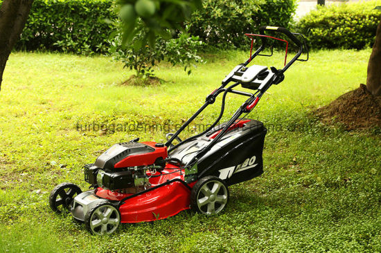Good Quality 21 Inch Self Propelled Electric Start Garden Engine Lawn Mower