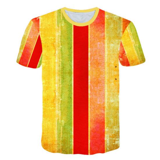 China Custom Printed T-Shirt 3D Sublimation Printing Men