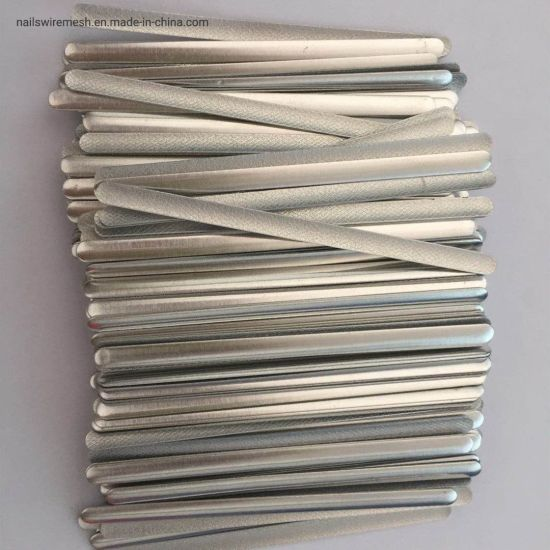 Mask accessories 90mm flat aluminum nose bridge wire nose pin nose strip nose clip with hot melt glue for the face mask in stock