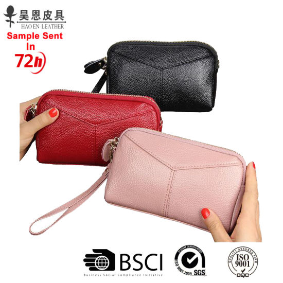 Guangzhou Factory Without Any MOQ Genuine Leather Wallet Lady Purse pictures & photos