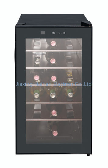 Wine Cooler with Wooden Rack