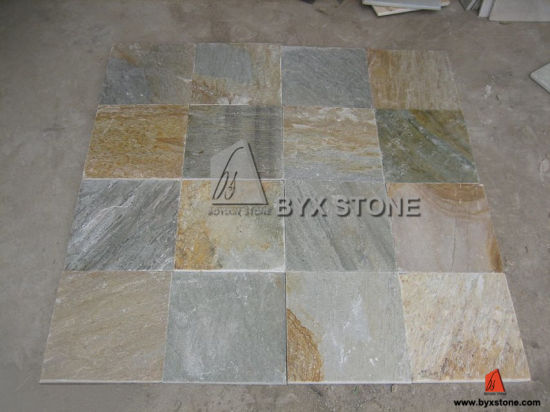 China Beige Grey Slate Tile for Roofing and Flooring - China Slate ...