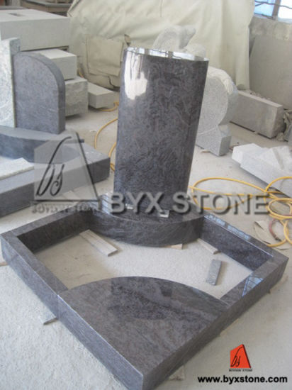 Blue Granite Natural Stone European Style Monument / Tombstone pictures & photos