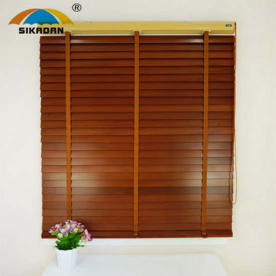 Factory Directly Provide Window Curtrain Wooden Roller Blinds