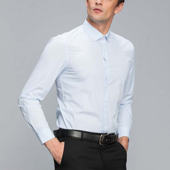 751403e7d872 Men′s Stripe Business Long Sleeve Office Fomal Dress Shirt pictures & photos
