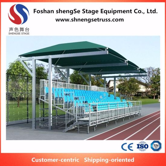 new concept e378b 9bc36 Good Price Customize Layer Structure Aluminum Portable Stage Bleachers with  Tent for Sale