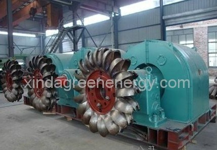 Impulse Hydraulic Turbine Generator for Power Station