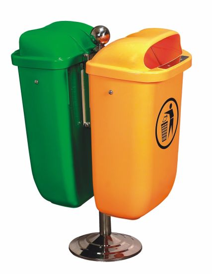 Euro Standard 50 Litre Dustbins for Street Usage with 2 Bins pictures & photos