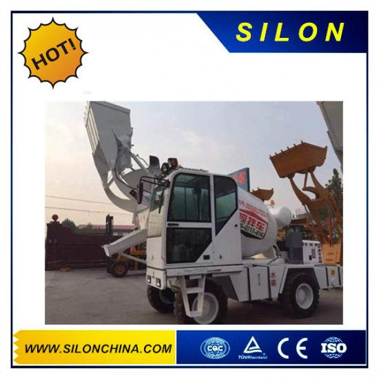 Concrete 1.7m3 Mini Self Loading Concrete Mixer Truck with Front Loading Shovel (SL1.7R)