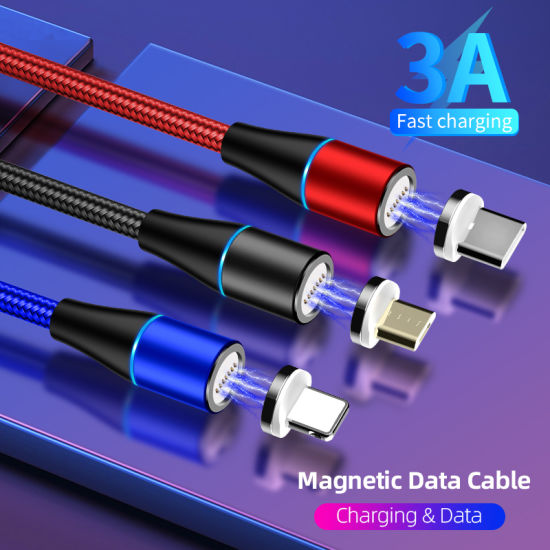 Phone Accessories Mobile Magnetic Micro USB Data Cable Sync Data Transfer Charger Cable