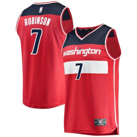 meet a8c1f cc476 Washington Wizards Red Authentic Custom- Icon Edition Customized Basketball  Jerseys