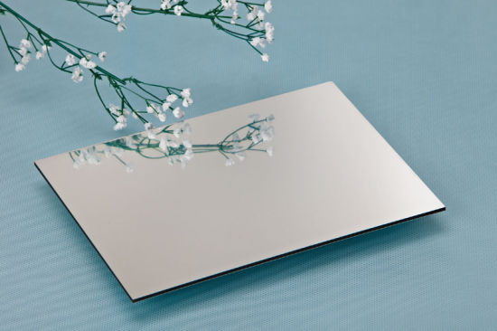 Silver Mirror Aluminum Composite Panel Use for Externel Wall Decoration