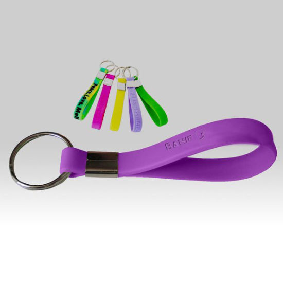 Plain Multicolor Rubber Keychain Customized pictures & photos
