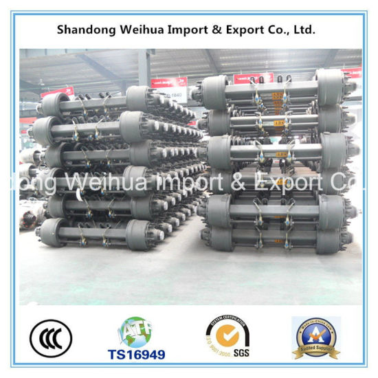 Semi Truck Trailer Axle of American Type Outboard Axle Jingsheng Axle pictures & photos